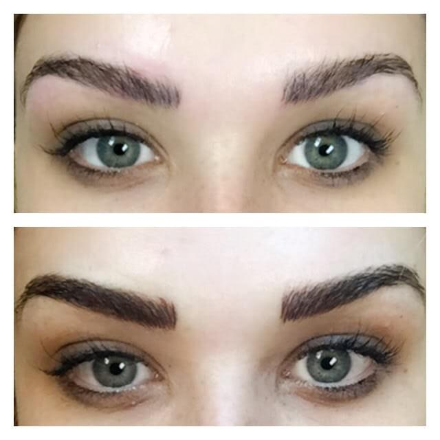 Microblading Before and After images