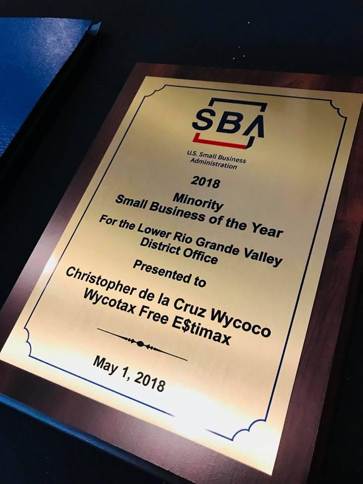 U.S. Small Business Administration Minority Small Business of the Year Award