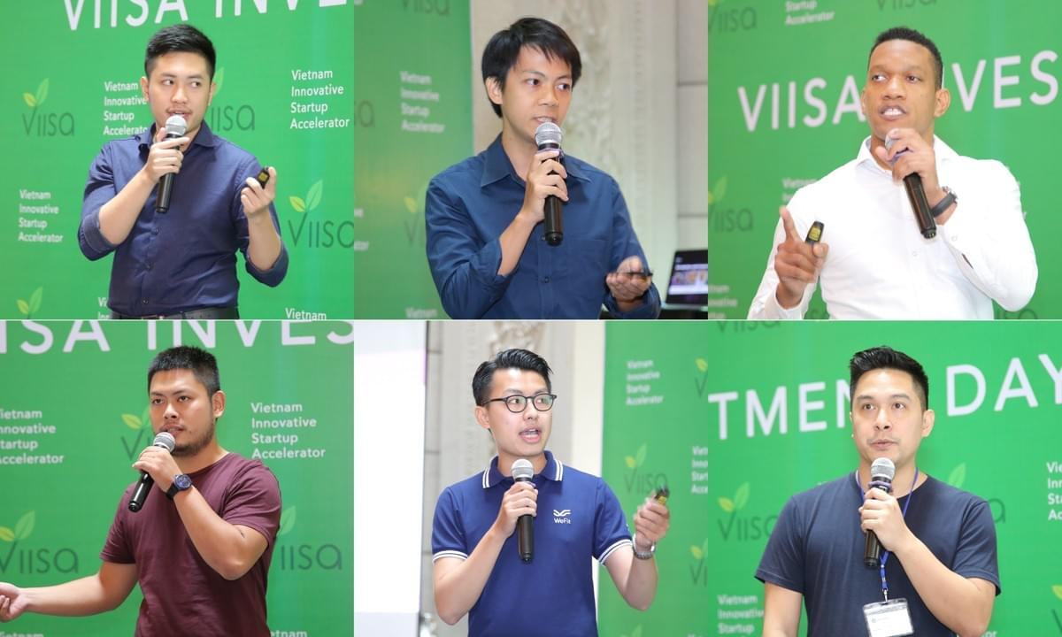 6 startups in Investment Day include 3 startups in VIISA Accelerator Program Batch 3 and 3 featured portfolio companies.