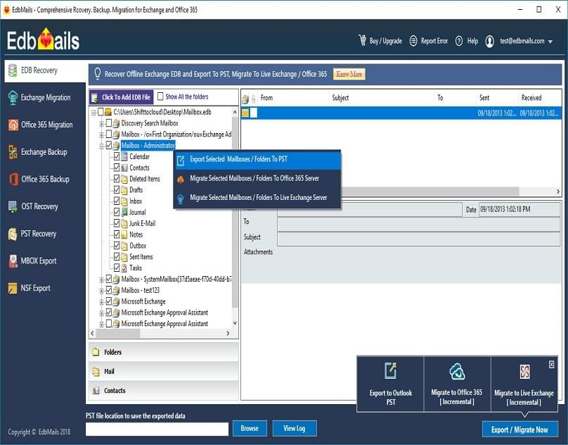 An amazing EDB to PST Converter from EdbMails