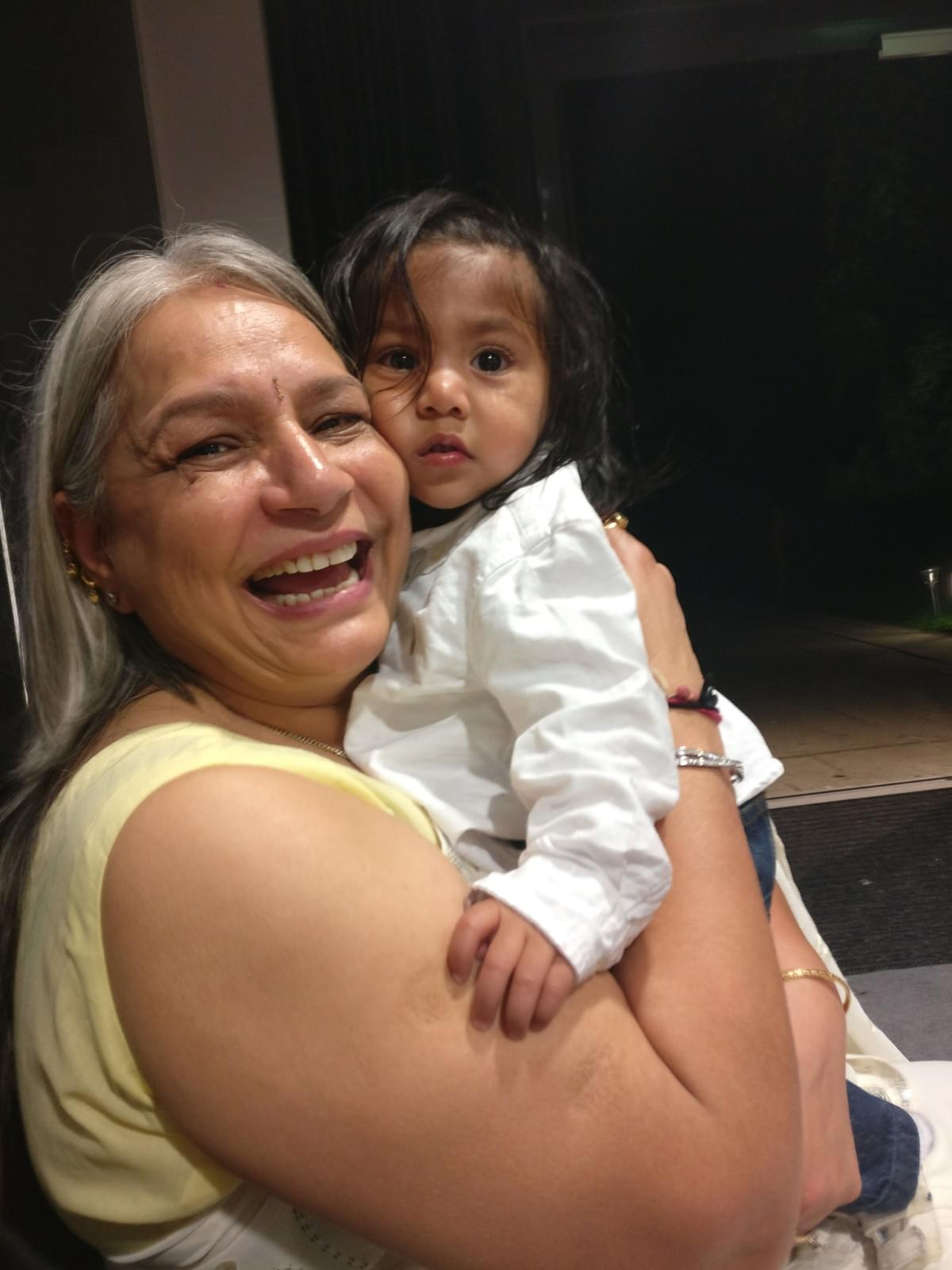 Our mum and her grandson