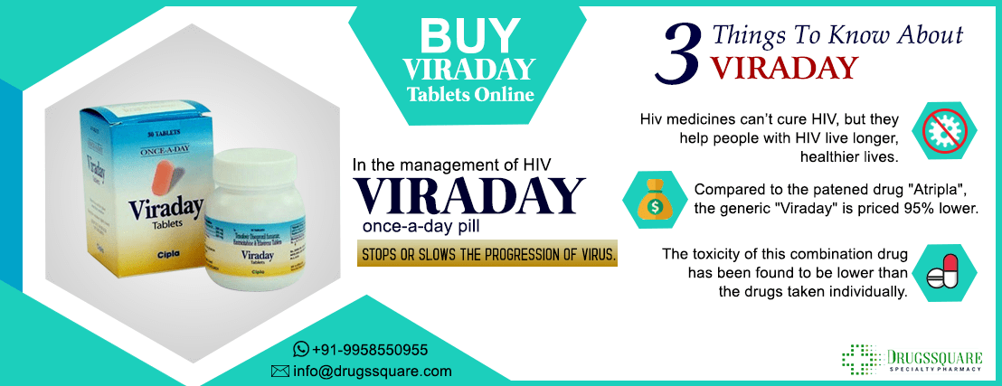 Buy Cipla Viraday Tablets Online from India at Best Price - Shipping