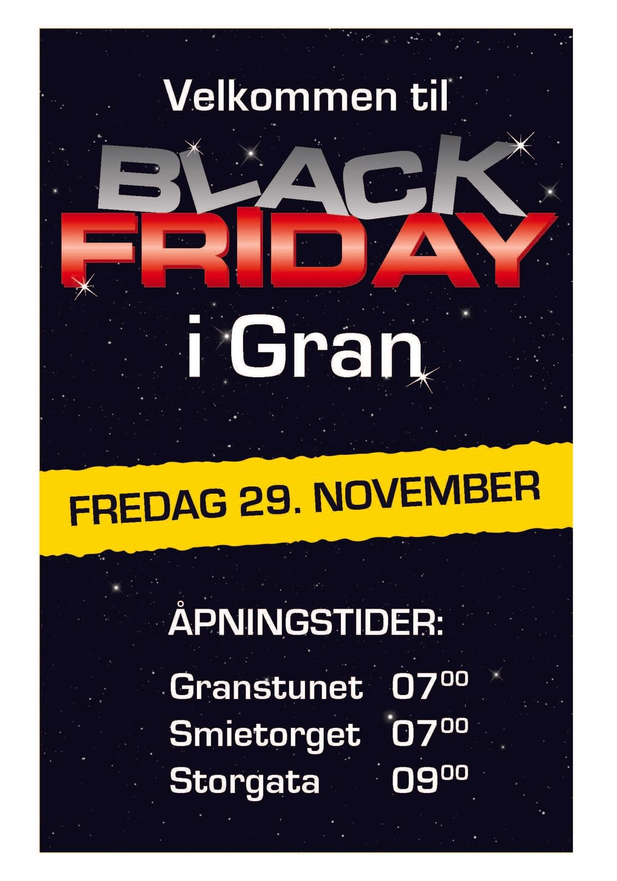 Black Friday 29.november 2019