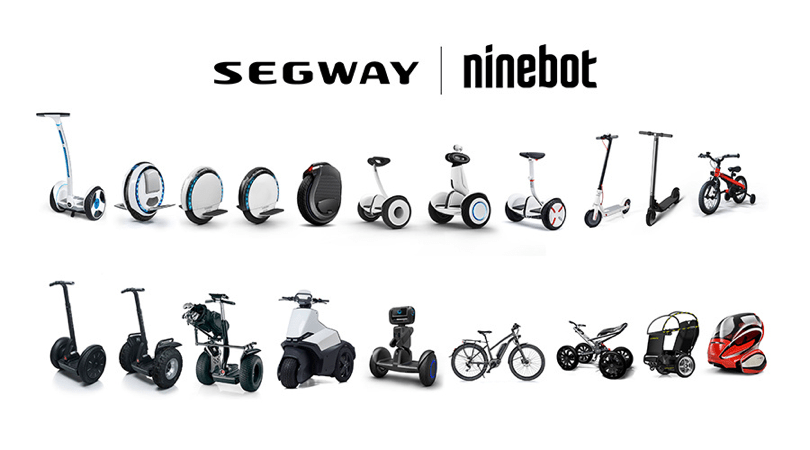 A picture of Segway-Ninebot's product offerings