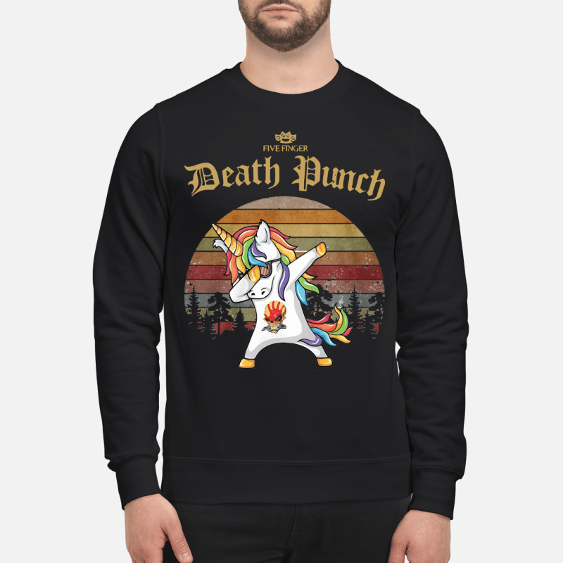 Santa Unicorn dabbing five finger death punch vintage shirt
