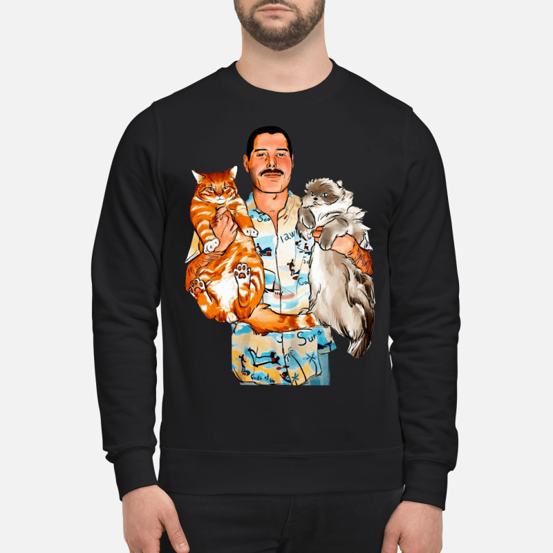 Freddie Mercury With His Cats Shirt