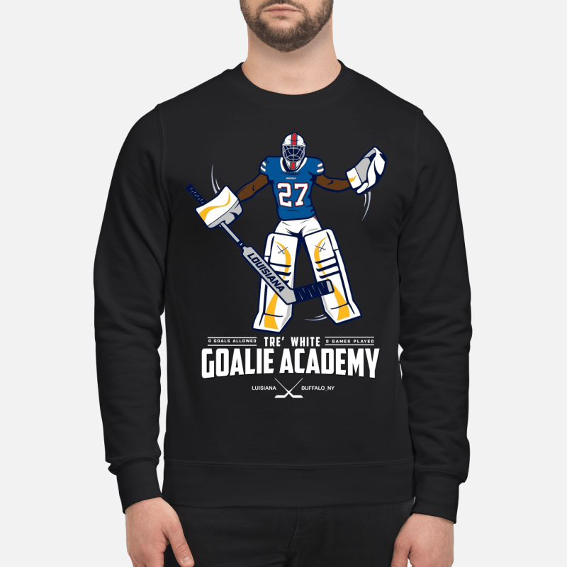 Tre white goalie academy kid shirt
