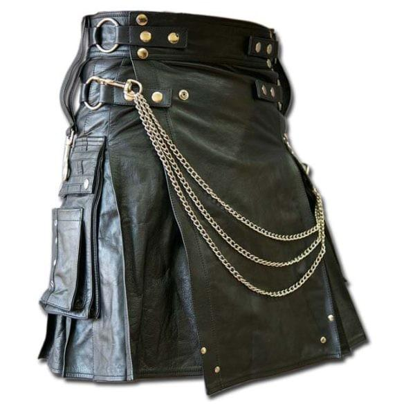 leather kilt, kilt, leather, leather kilt history, scottish, kilts,