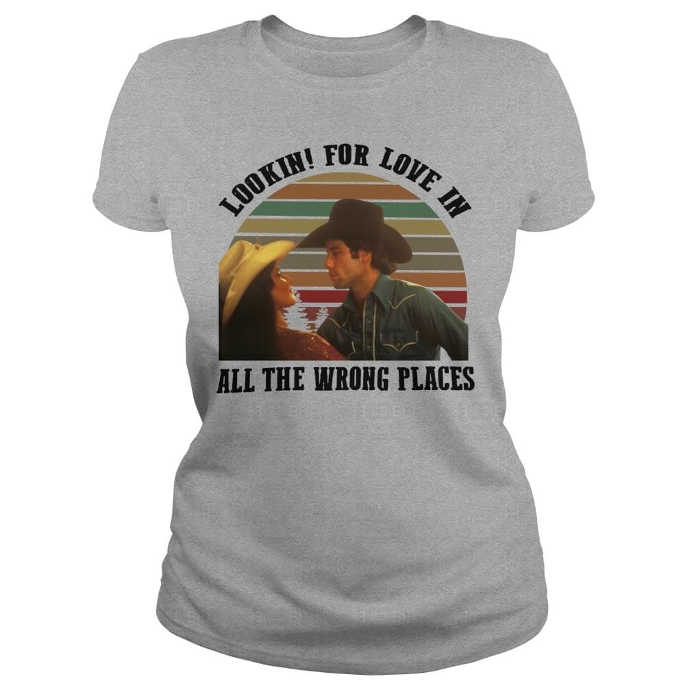 4c42db101 Lookin' for love in all the wrong places Urban Cowboy shirt