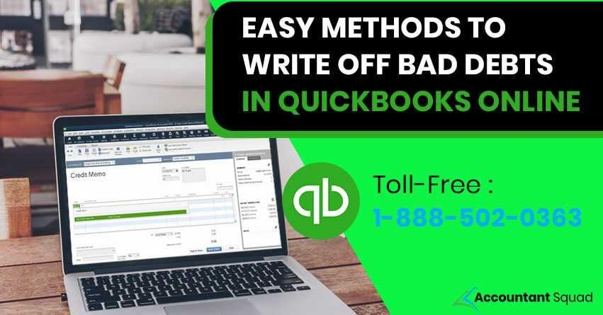 write off bad debt in quickbooks online