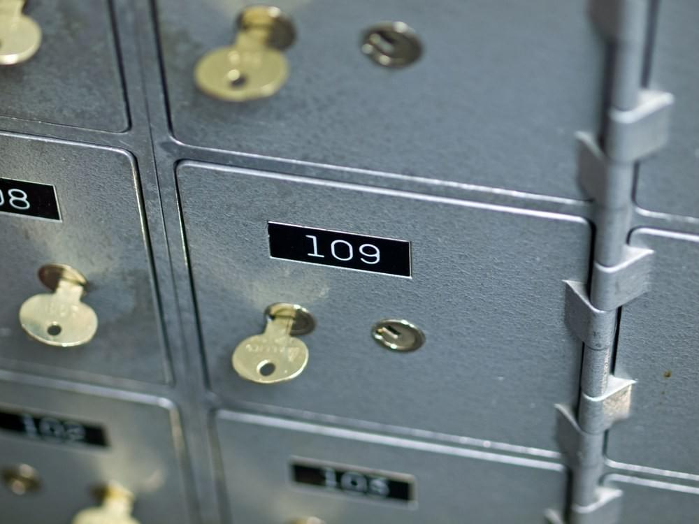 a 3x5 safe deposit box with insurance