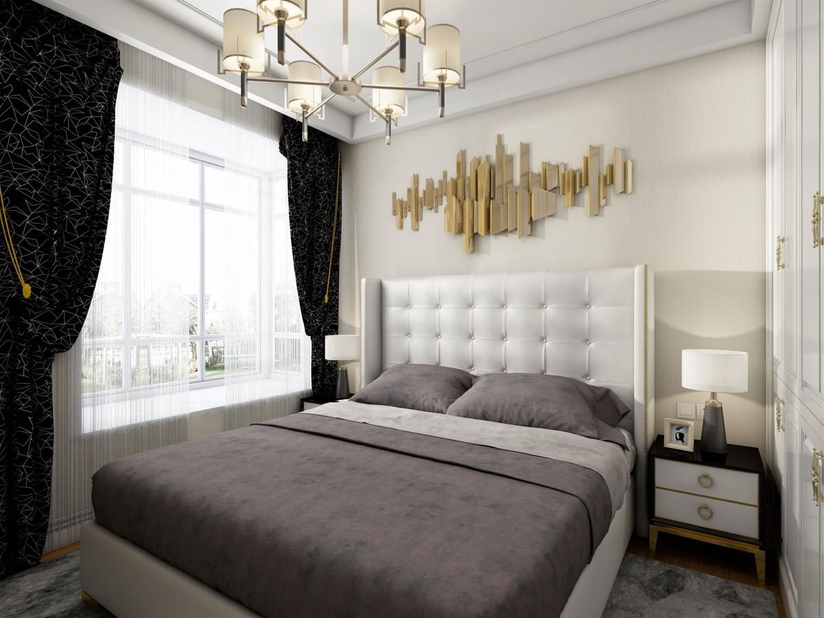 北海装修 两房两厅 现代轻奢设计
