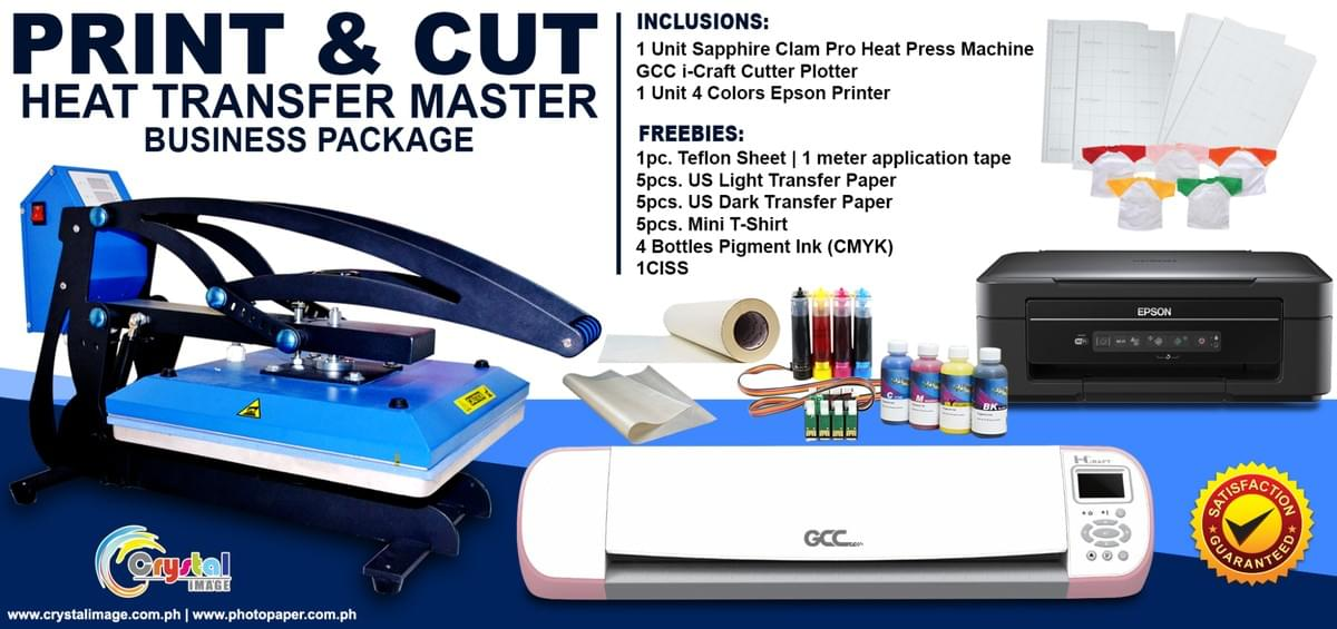 heat press and cutter plotter package Philippines