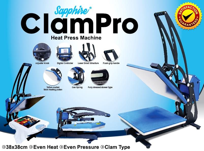 Sapphire Clam Pro Heat Press machine Philippines