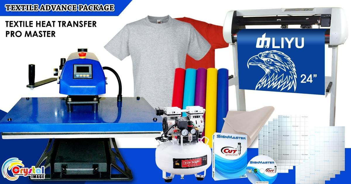 heat press and cutter plotter printing package