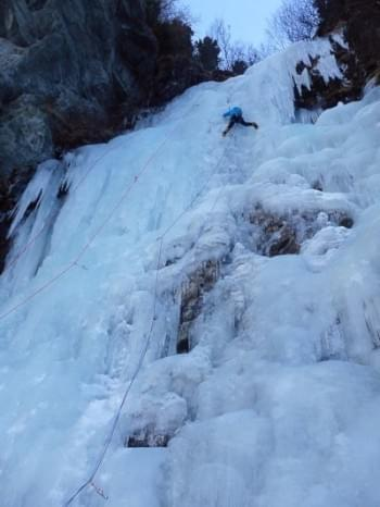 Climber on Cascate de Loie (not me in the photo)