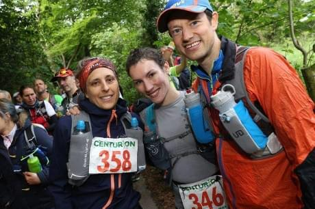 Me with Sophie Power and Sam Tomlinsen at the start line. Photo Credit: Stuart March Photography