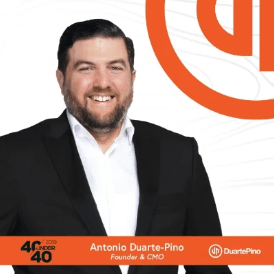 40 Under 40 2019 honoree: Antonio Duarte-Pino, Founder & CMO of DuartePino