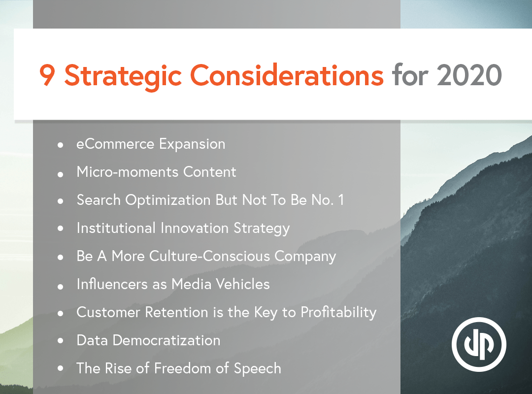 9 Strategic Considerations for 2020