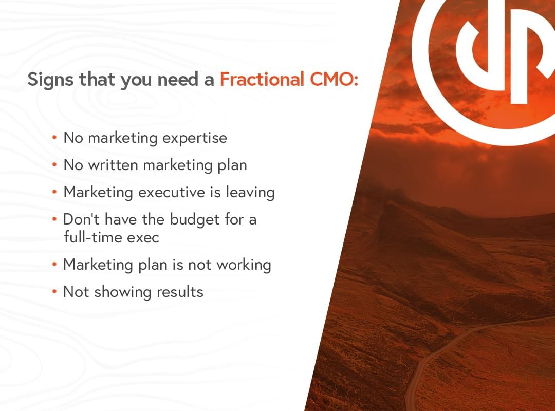 Signs that you need a Fractional CMO