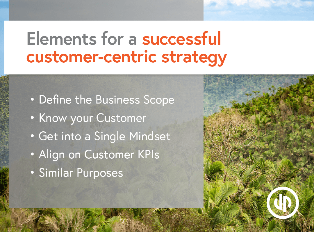 Elements for a successful customer-centric strategy.