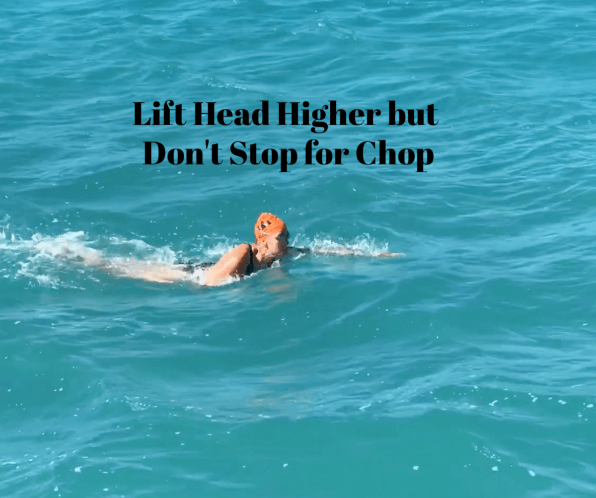 Head, Swim, open water, Technique, rough, waves, triathlon, Kirsten, KGR Coaching