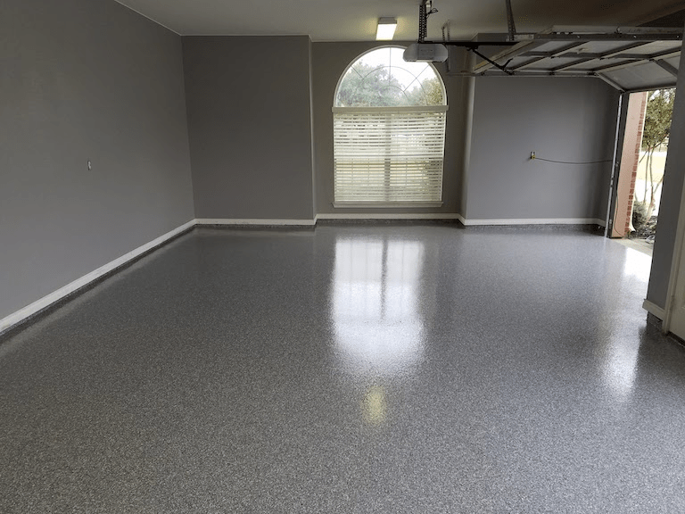 Garage Floor Before Epoxy Painting