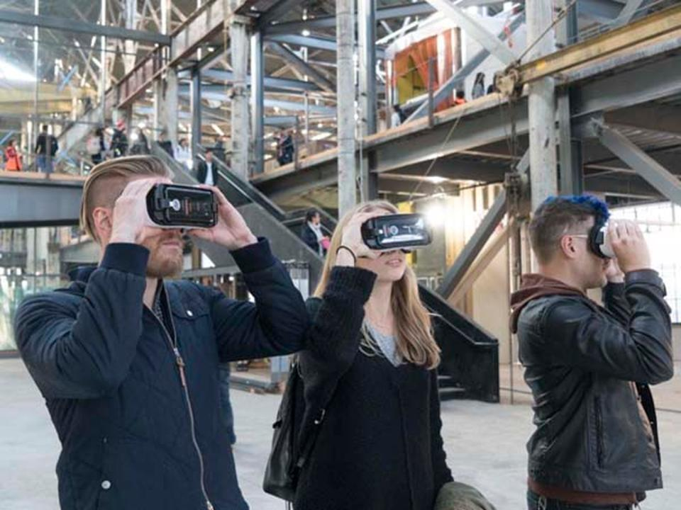 On-site mobile VR, used for visualizing the finished building. GENSLER