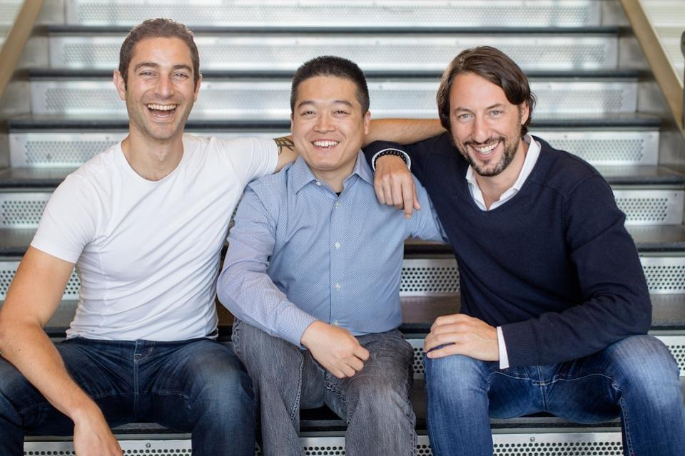 Leia founders David Fattal, CEO, Zhen Peng, CTO, Pierre-Emmanuel Evreux, President and CFO. Leia, Inc.