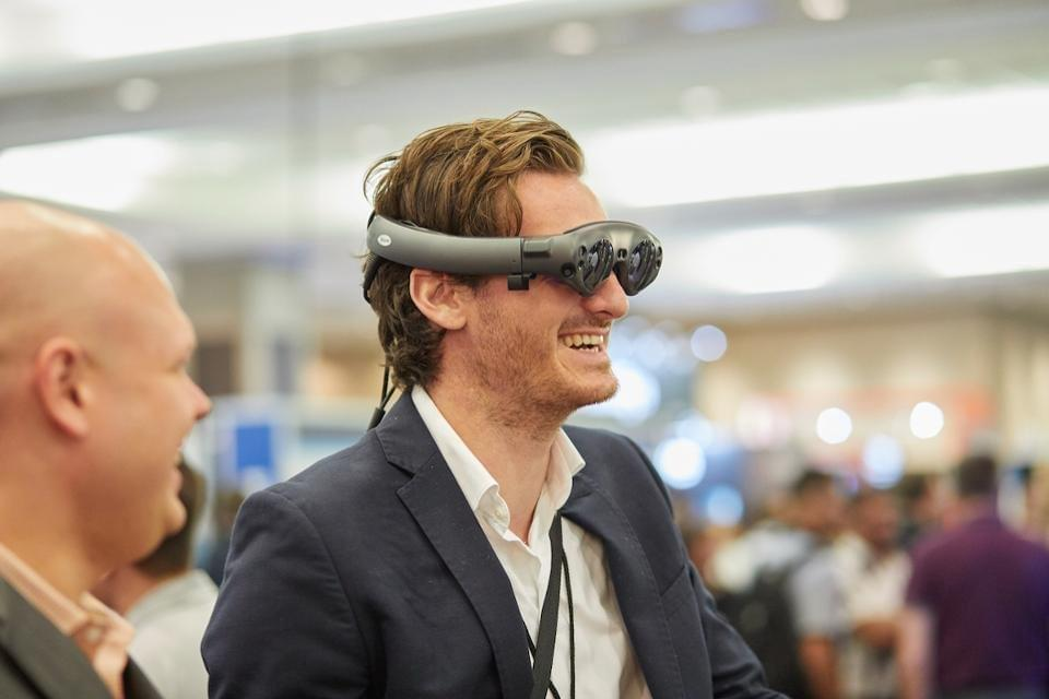 Experiencing Spatial Computer on Magic Leap One Creators Edition at The Enterprise Wearable Technology Summit in Dallas, September, 2019. CHARLIE FINK