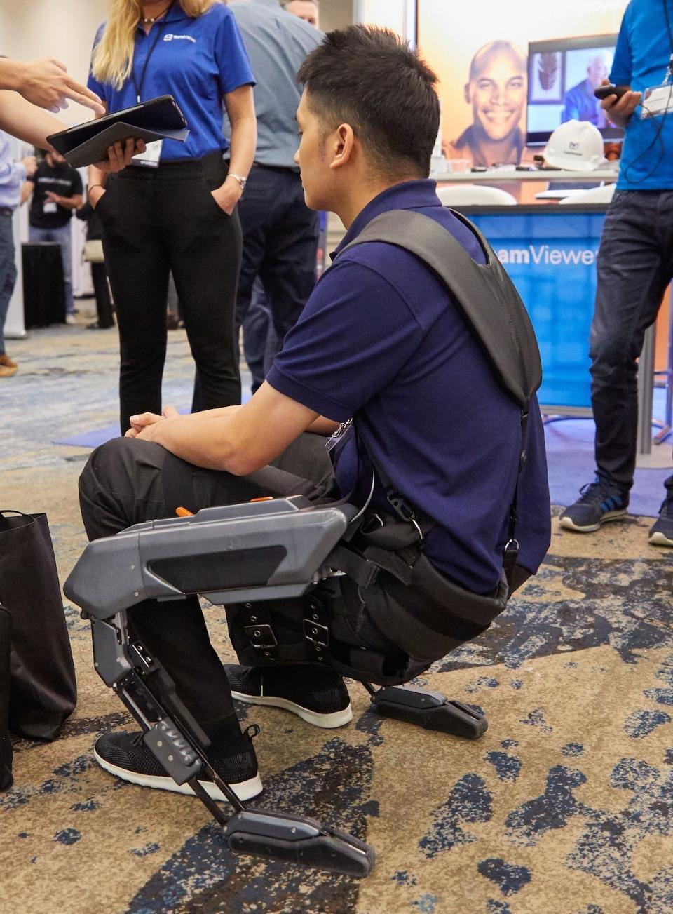 The Astride exoskeletion is built to reduce fatigue and injury to frontline workers. JASON GILMORE