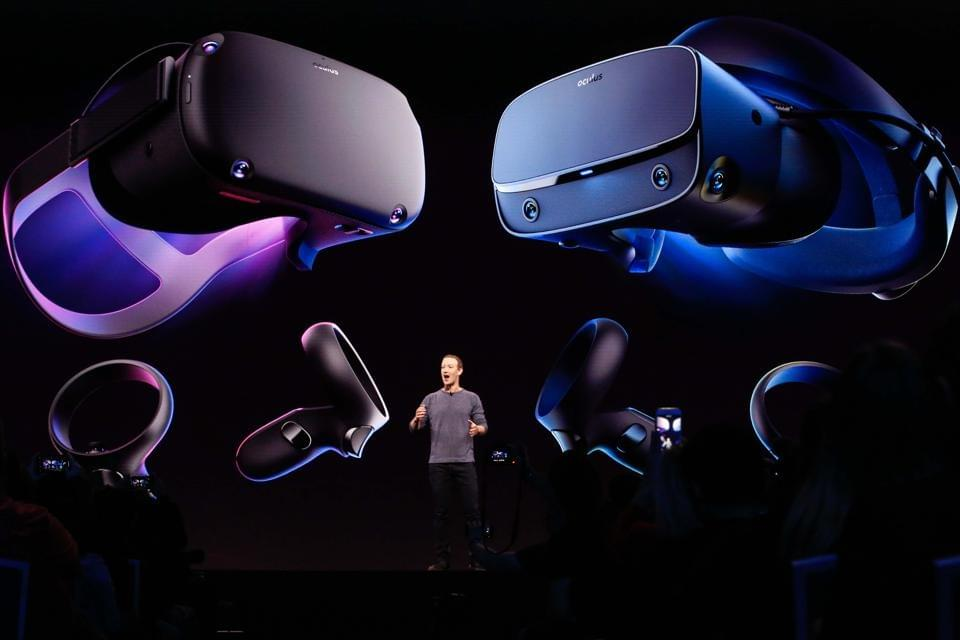 Facebook CEO Mark Zuckerberg introduces the new Oculus Quest as he delivers the opening keynote at the Facebook F8 Conference at McEnery Convention Center in San Jose, California on April 30, 2019. — Got a crush on another Facebook user? The social network will help you connect, as part of a revamp unveiled Tuesday that aims to foster real-world relationships and make the platform a more intimate place for small groups of friends. (Photo by Amy Osborne / AFP) (Photo credit should read AMY OSBORNE/AFP via Getty Images) AFP VIA GETTY IMAGES
