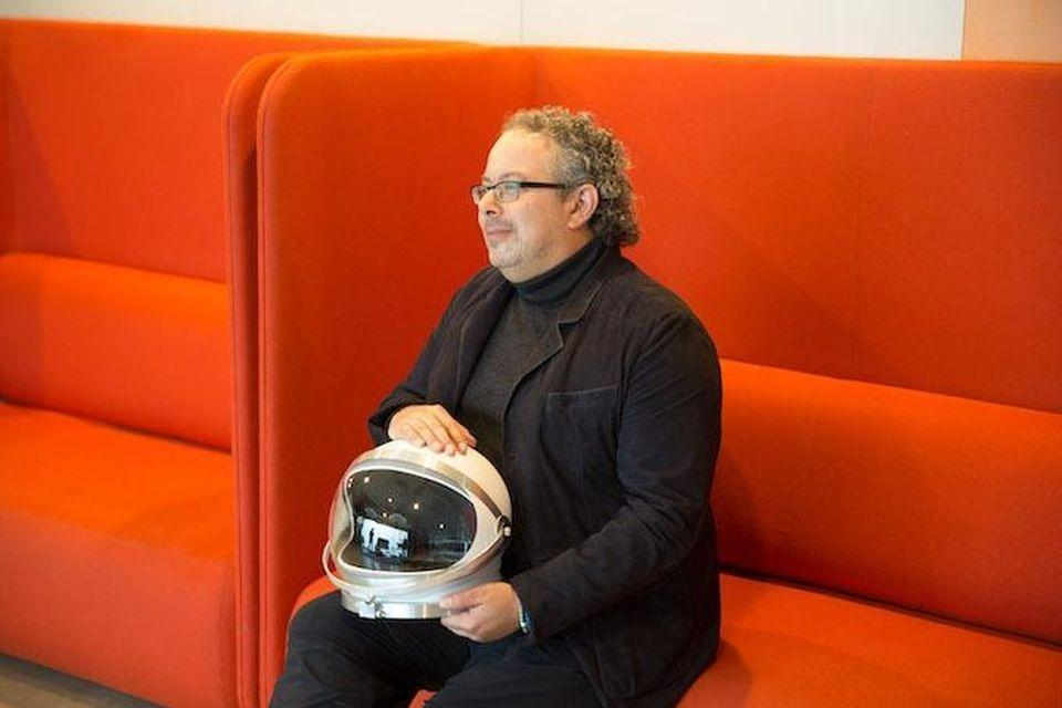 Rony Abovitz, founder and CEO of Magic Leap with one of the company's touchstones: NASA. Abovitz wants to capture the pioneering spirit of the early space program. PATRICK FINLEY