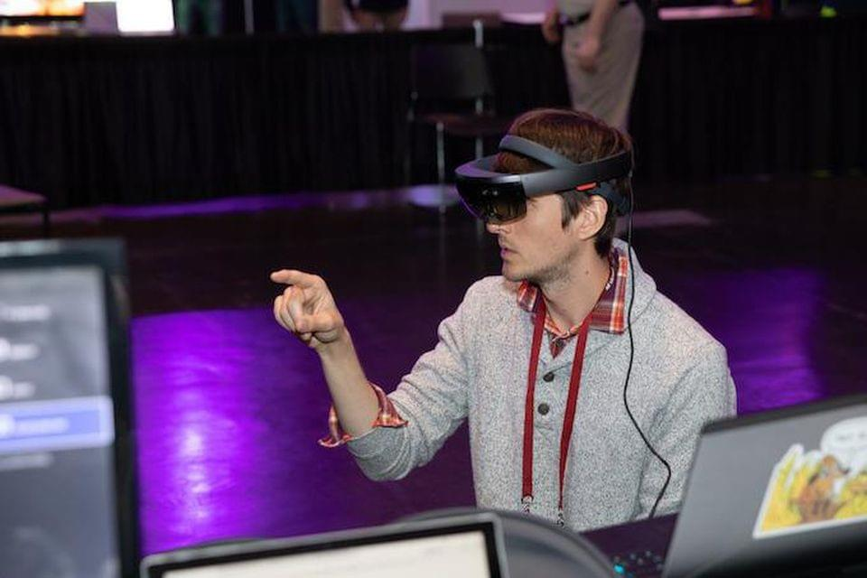 Microsoft's HoloLens gets a test drive at AWE 18. Michael O'Donnell for AWE USA 2018