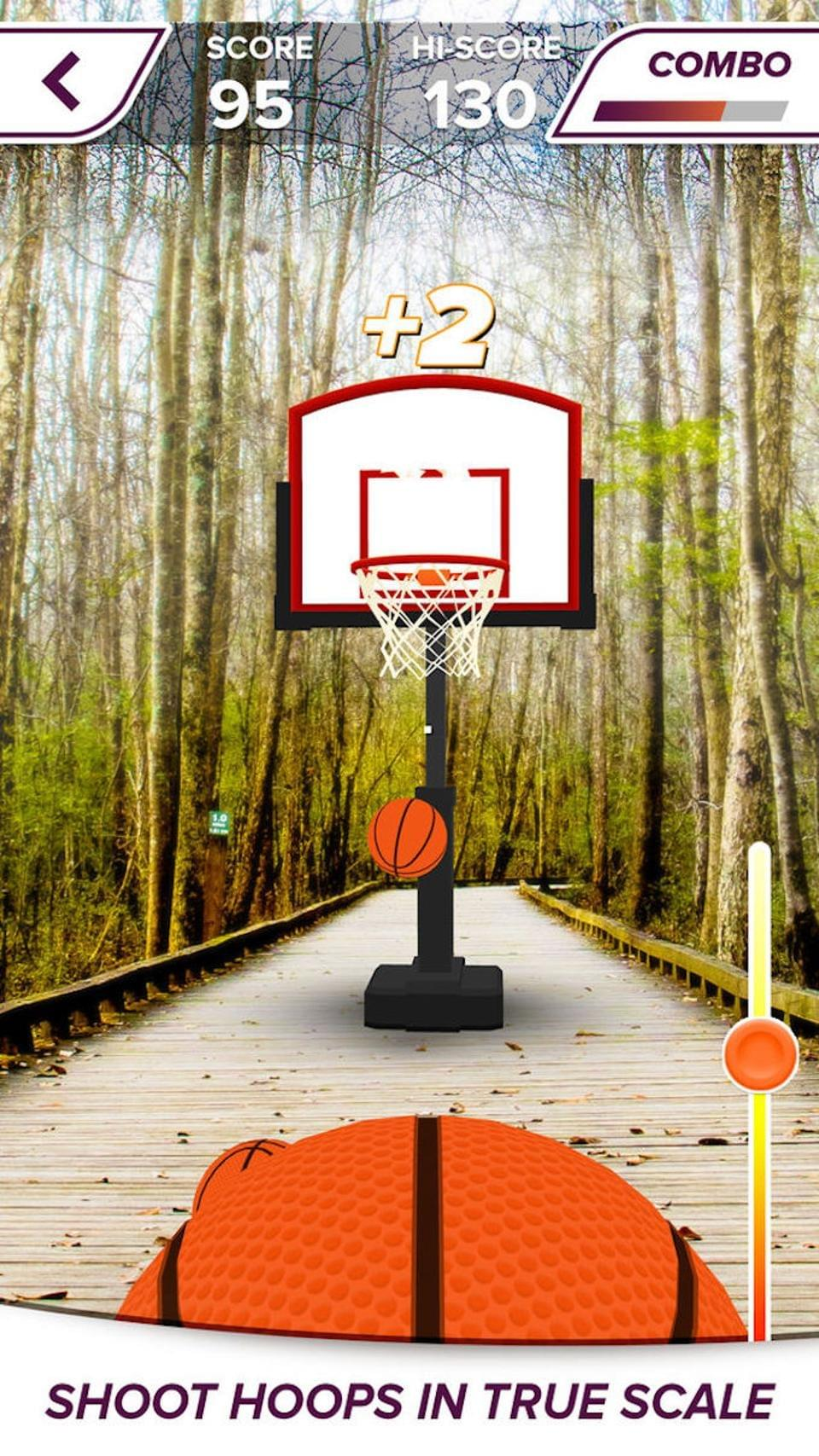 AR Sports Basketball is one of the more amusing free diversions in the app store.