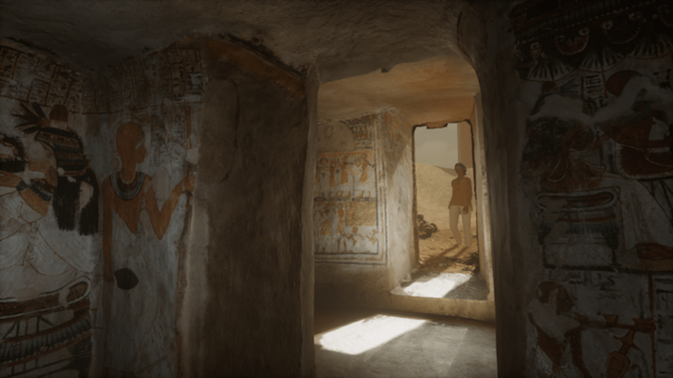 You can explore this photo real, full-scale Egyptian tomb on Sansar.