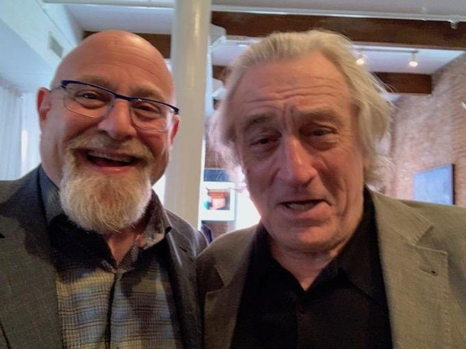 "My third selfie with Tribeca co-founder, mega star Robert DeNiro. He called me a truth teller. Nicest thing you can say to a writer. Bob doesn't look so good here but when I asked to take another he said ""that one is fine."" CHARLIE FINK"