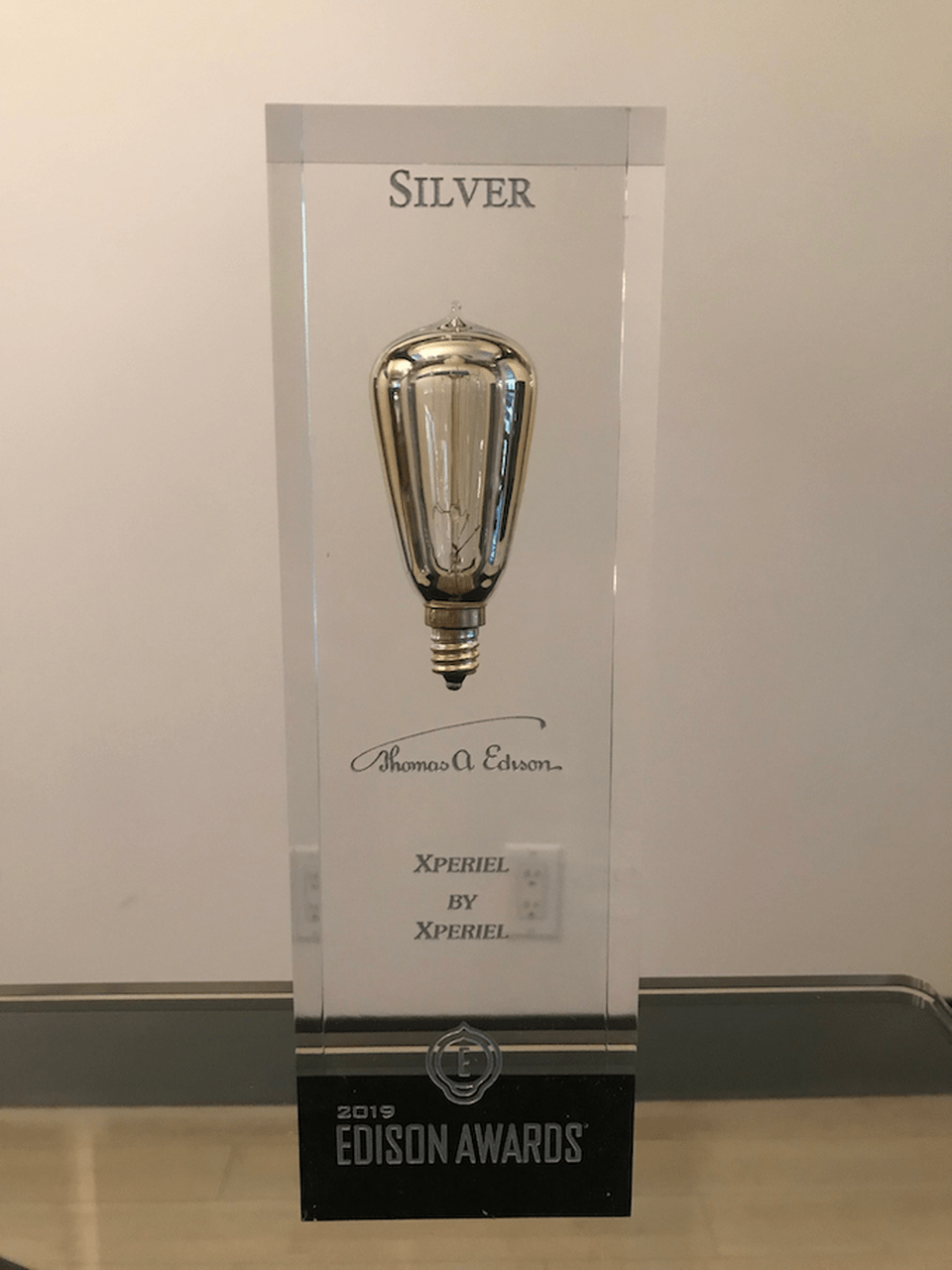 "On April 4, Xperiel won the Silver Edison Award in the IoT category for their ""Real World Web"" IoT AR Operating System. XPERIEL"