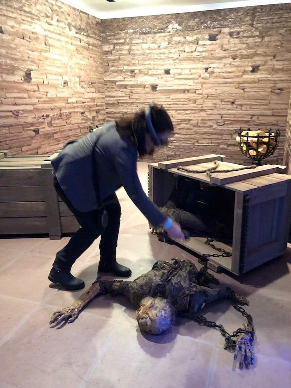 "Samantha Wolfe burns a White Walker in Magic Leap's ""Game of Thrones"" promotion. SAMANTHA WOLFE"