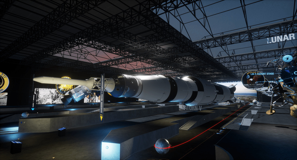 Apollo VR Museum created by LOOT Interactive using Linden Labs new Sansar VR platform.
