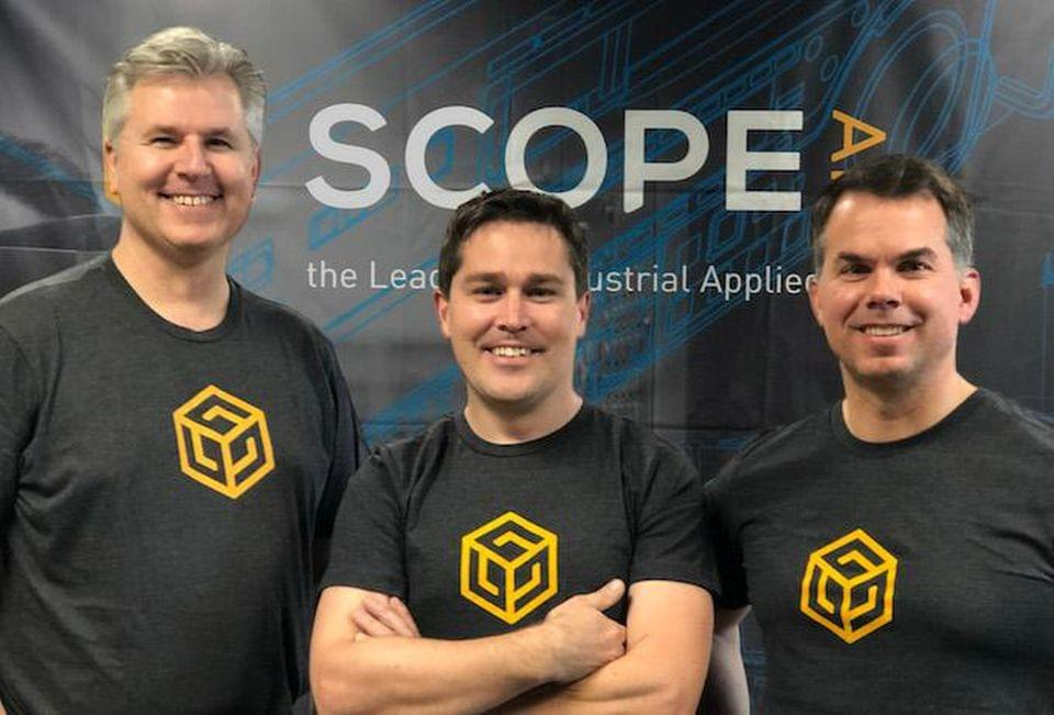 Scope AR founders from L: Graham Melley, Scott Montgomerie, and David Nedohin. Scope AR