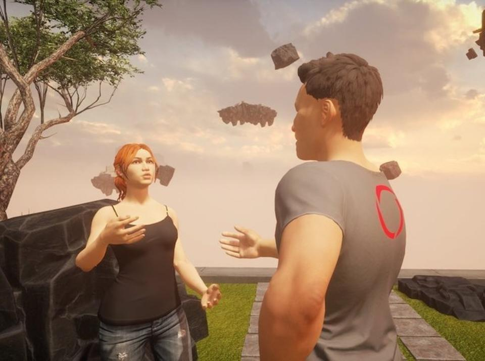 Avatars in Sansar a remarkably life like. They have true lip sync, make eye contact, and track gestures in real time.