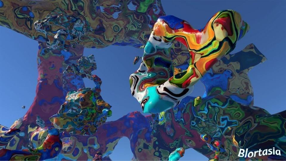 Blortasia, an abstract immersive virtual world by Academy Award winning VFX artist Kevin Mack.