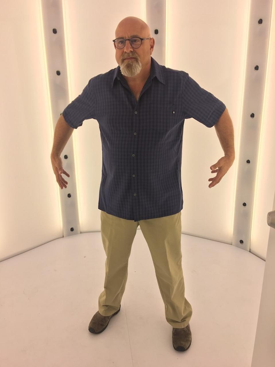 Pete Forde's mobile capture room used 70 cameras to create my photo-real 3D avatar.