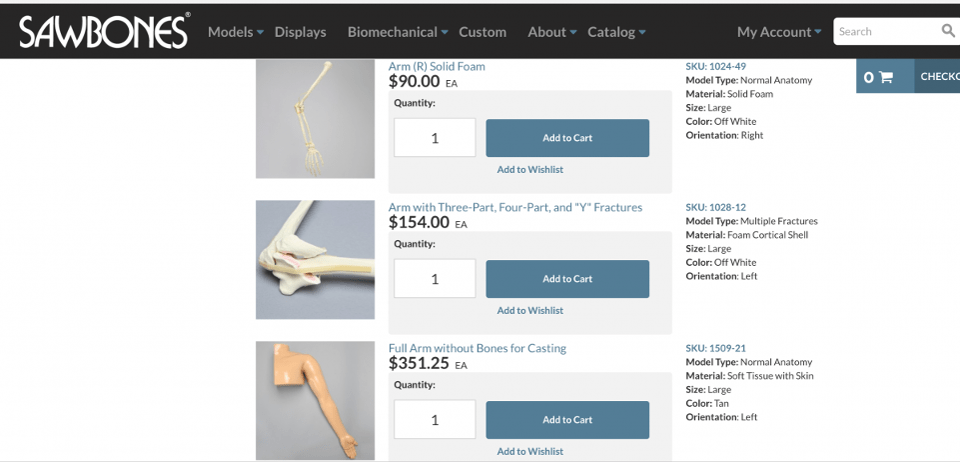 The old way is still the main way. Founded in 1975, Sawbones creates realistic plastic models for surgeon training.