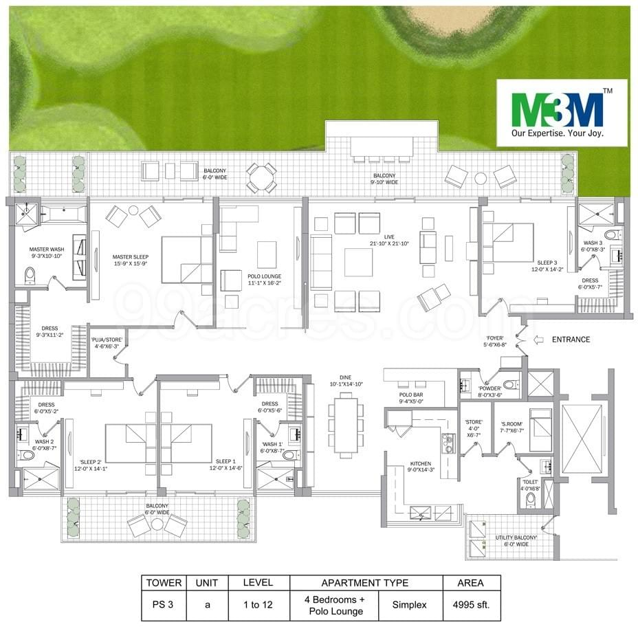 m3m polo suites highlights
