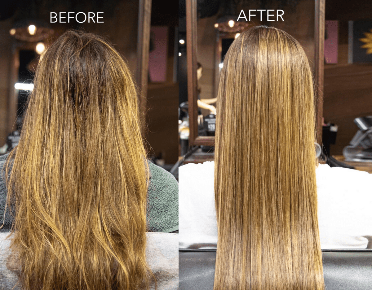 Before and After Cinderella Hair Treatment from Leekaja Beauty & Hair Salon Singapore
