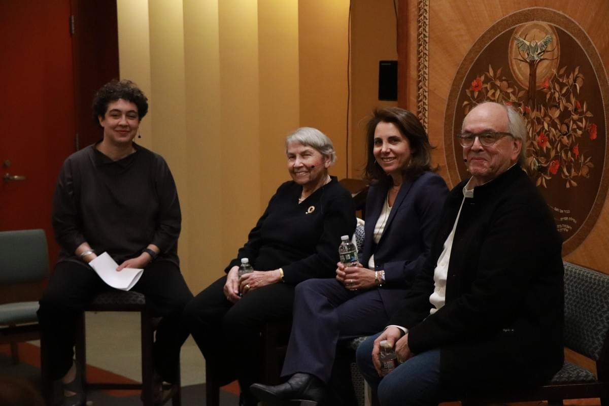 The Panel, left to right: moderator Dr. Aleisa Fishman of the USHMM, authors Edith Cord, Felice Cohen and Max Hirshfeld.