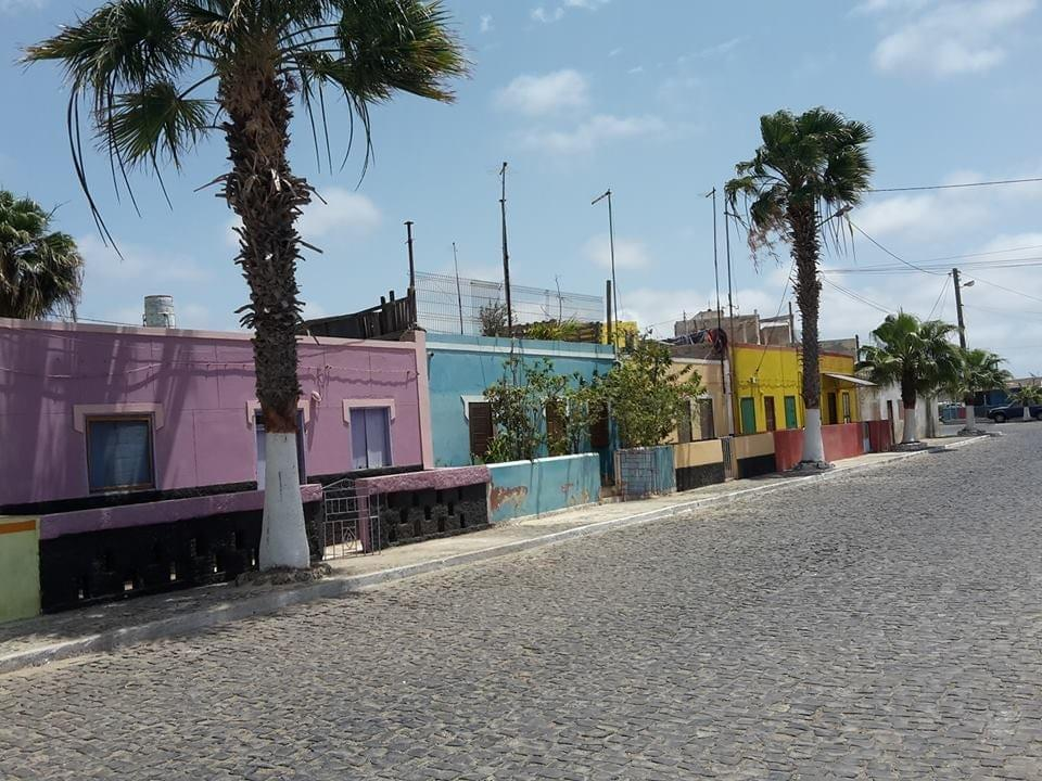 The colorful houses of Palmeira, Sal island... Photo: Rikke Flodin
