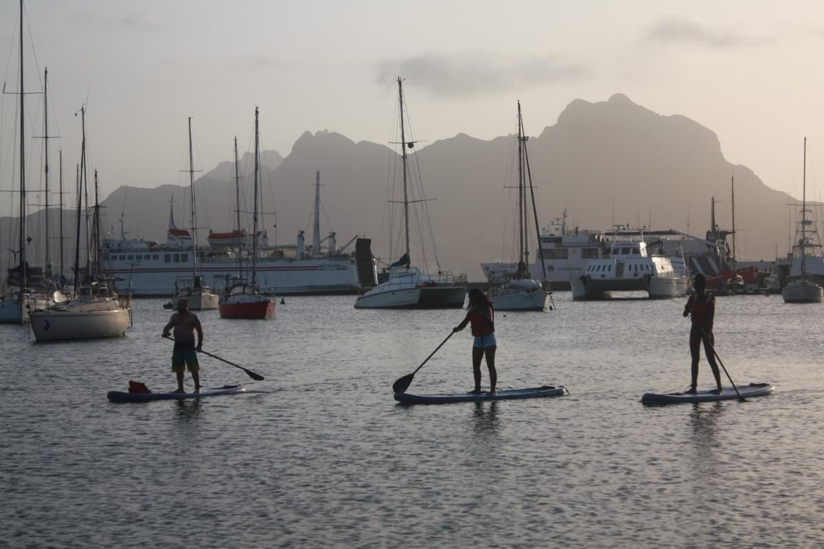 Stand Up Paddle in the bay of Mindelo